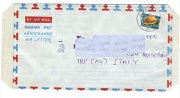Marcofilia Ghana - Aereogramma  N. 6 - Francobolli, Stamps, Timbres, Sellos,  Briefmarken - Ghana (1957-...)