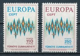 °°° TURKEY - Y&T N°2024/25 - 1972 MNH °°° - 1921-... Repubblica