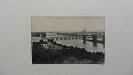 France > [37] >CPA :Tours :Vue Générale ,rives De La Loire En Amont Du Pont Bonaparte - Tours