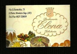Biglietto Da Visita - Pasticceria Elena - Montoro Superiore ( Avellino ) - Cartoncini Da Visita