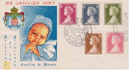 FDC Cachet Premier Jour - Naissance De Caroline De Monaco - 11/05/1957 - Postmarks