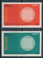 °°° TURKEY - Y&T N°1952/53 - 1970 MNH °°° - 1921-... Repubblica