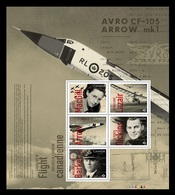 Canada 2019 Mih. 3711/15 (Bl.285) Canadians In Flight. History Of Canadian Aviation MNH ** - Unused Stamps
