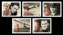 Canada 2019 Mih. 3716/20 Canadians In Flight. History Of Canadian Aviation (self-adhesive) MNH ** - Unused Stamps