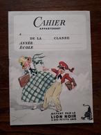 L18/157 Cahier D'écriture Publicitaire. Lion Noir. - Pulizia