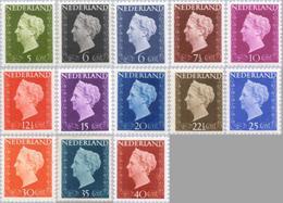 1947 Koningin Wilhelmina NVPH 474-486 Ongestempeld/MH/* - Ongebruikt