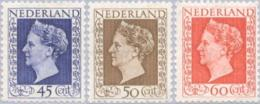 1947 Koningin Wilhelmina NVPH 487-489 MNH** Postfrisch - 1891-1948 (Wilhelmine)