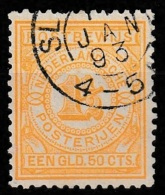 1884 Postbewijs  1,5 Gld - Met Prachtig Scherp Kleinrondstempel Op  NVPH 2 - Autres