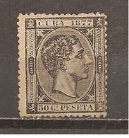Cuba - Edifil 42 - Yvert 20 (MH/(*)) (sin Goma) - Kuba (1874-1898)