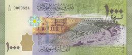 SYRIA 1000 LIRA POUNDS 2013 P-116 LOW SERIAL 00005XX UNC */* - Syrien