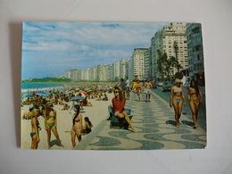 Postcard Postal Brasil Rio De Janeiro Praia De Copacabana - Rio De Janeiro