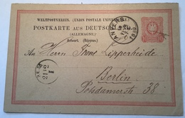 "Deutsches Reich  ANTWORT-Ganzsache 1878 P9 ""ANVERS 1880"" Rare Used In Belgium (lettre Cover Brief Belgique UPU - Germany"