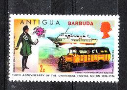 Barbuda   - 1974.  Bus E Aliscafo. Bus And Hydrofoil. MNH - Bus
