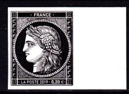 Cérès Un T 0.20 € Bord De Feuille Non Dentelé, 170 Ans Du Premier Timbre De France 1849/2019 - Neufs