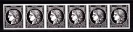 Cérès Bande De 6 X 0.20 €  Non Dentelé, 170 Ans Du Premier Timbre De France 1849/2019 - France