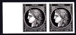 Cérès Paire 2 X 0.20 € Bord De Feuille Non Dentelé, 170 Ans Du Premier Timbre De France 1849/2019 - France