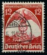 3. REICH 1935 Nr 587X Gestempelt X86102E - Allemagne