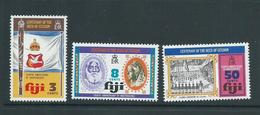 Fiji 1974 Deed Of Cession Set Of 3 MNH - Fiji (1970-...)