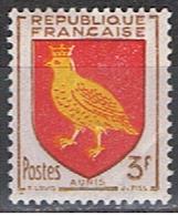 (FR 603) FRANCE //  YVERT 1004 // BLASONS D'AUNIS // 1954 NEUF. - 1941-66 Stemmi E Stendardi