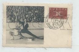Grenoble (38): Photo CP Commémorative Championnat De Patinage GP D'un Couple De Patineurs En 1954 (animé) PF RARE. - Grenoble