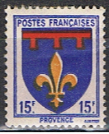 (FR 358) FRANCE //  YVERT 574 // ARM.: PROVENCE // 1943 NEUF - 1941-66 Stemmi E Stendardi