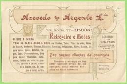 Lisboa - Factura Da Casa Comercial Azevedo & Argente Lda. - Portugal
