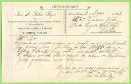 Torres Novas - Memorandum De José Da Silva Beja Em 1923. Santarém. - Portugal