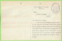 España - Consulado En Sevilla - Panama - Passport - Passeport . Passaporte - Ship - Boat - España