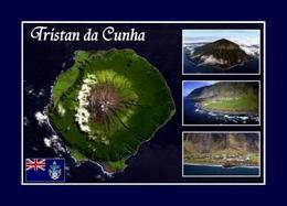 Tristan Da Cunha Island Satellite View Map New Postcard - Ansichtskarten
