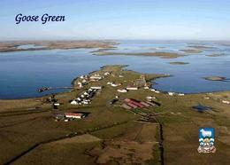 Falklands Islands Goose Green Aerial View New Postcard Falklandinseln Malwinen AK - Falkland Islands