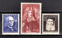 FRANCE 1944 - LOT 3 TP / Y.T. N° 599 / 600 / 601 - NEUFS** /5 - France
