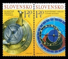 Slovakia 2019 Mih. 866/67Astronomical Clock (joint Issue Slovakia-Slovenia) MNH ** - Slovaquie