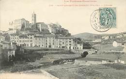 """/ CPA FRANCE 66 """"Saint Laurent De Cerdans, L'église"""" - Autres Communes"""