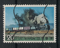 Japan Mi:01235 1974.11.26  Steam Locomotives Series 1st(used.w) - 1926-89 Empereur Hirohito (Ere Showa)
