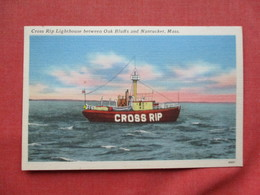 Cross Rip Lighthouse Between Oak Bluffs & Nantucket Massachusetts > Ref 3265 - Nantucket
