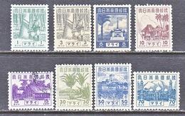 JAPANESE  OCCUP.  MALAYA  N 35-41    *  (o) - Ocupacion Japonesa