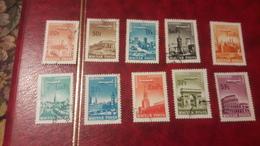 1966 Aereo Su Città Servite - Ungheria