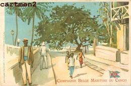 CONGO BELGE COMPAGNIE BELGE MARITIME PUBLICITE BATEAU ILLUSTRATEUR STOCKMANS § Co. ANVERS GOFFIN FILS BRUXELLES - Congo Belge - Autres