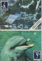 USSR / 15 Cards / Soviet Union. Georgia. Oceanarium In Batumi Dolphins. Fish. Seal. Crab. Marine Fauna. 1989 - Animaux & Faune