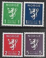 Norway   1940   Sc#203-6  Set  MNH    2016 Scott Value $40 - Norway