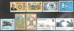 Virgin Islands 1980   9 Diff MNH To The $1  2016 Scott Value $5.90 - Britse Maagdeneilanden