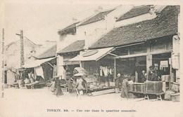 TONKIN HANOÏ UNE RUE DU QUARTIER ANNAMITE VIETNAM INDOCHINE 1900 CREBESSAC HANOÏ - Vietnam