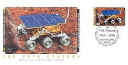 "ILES MARSHALL Enveloppe 1er Jour "" 20° SIECLE : SPACE EXPLORATION CAPTIVATES MILLIONS / SATTELITE "". FDC - Raumfahrt"