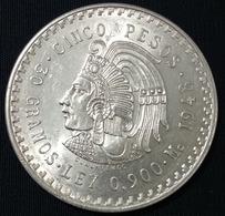 MEXICO 1948 $5 CUAUHTEMOC Silver Coin, Nice, Scarce, Bargain Priced - Mexico