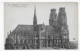 ORLEANS - N° 764 - LA CATHEDRALE - EGLISE SAINTE CROIX - COTE NORD - CPA NON VOYAGEE - Orleans