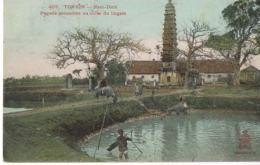 VIET-NAM -Tonkin-NAM-DINH -Pagode Consacrée Au Culte Dulingam-- Recto Verso-voyagée 1907 - Vietnam