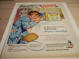 ANCIENNE PUBLICITE NOUVELLES BISCOTTES GREGOIRE 1958 - Afiches