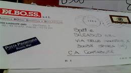 LAINATE  DITTA FA.BO.SS Fabbrica BORSE SCUOLA SPORT SPORTIVE  Busta Commerciale VB2001 PRIORITARIA HB9056 - Milano