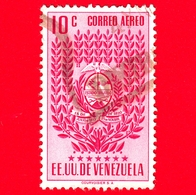 VENEZUELA - Usato - 1952 - Stemma Dello Stato Di Trujillo - Arms - 10 - P. Aerea - Venezuela