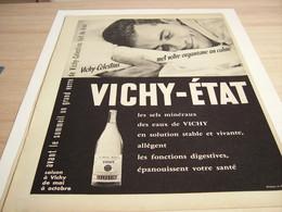 ANCIENNE PUBLICITE   VICHY CELESTIN ETAT 1957 - Afiches